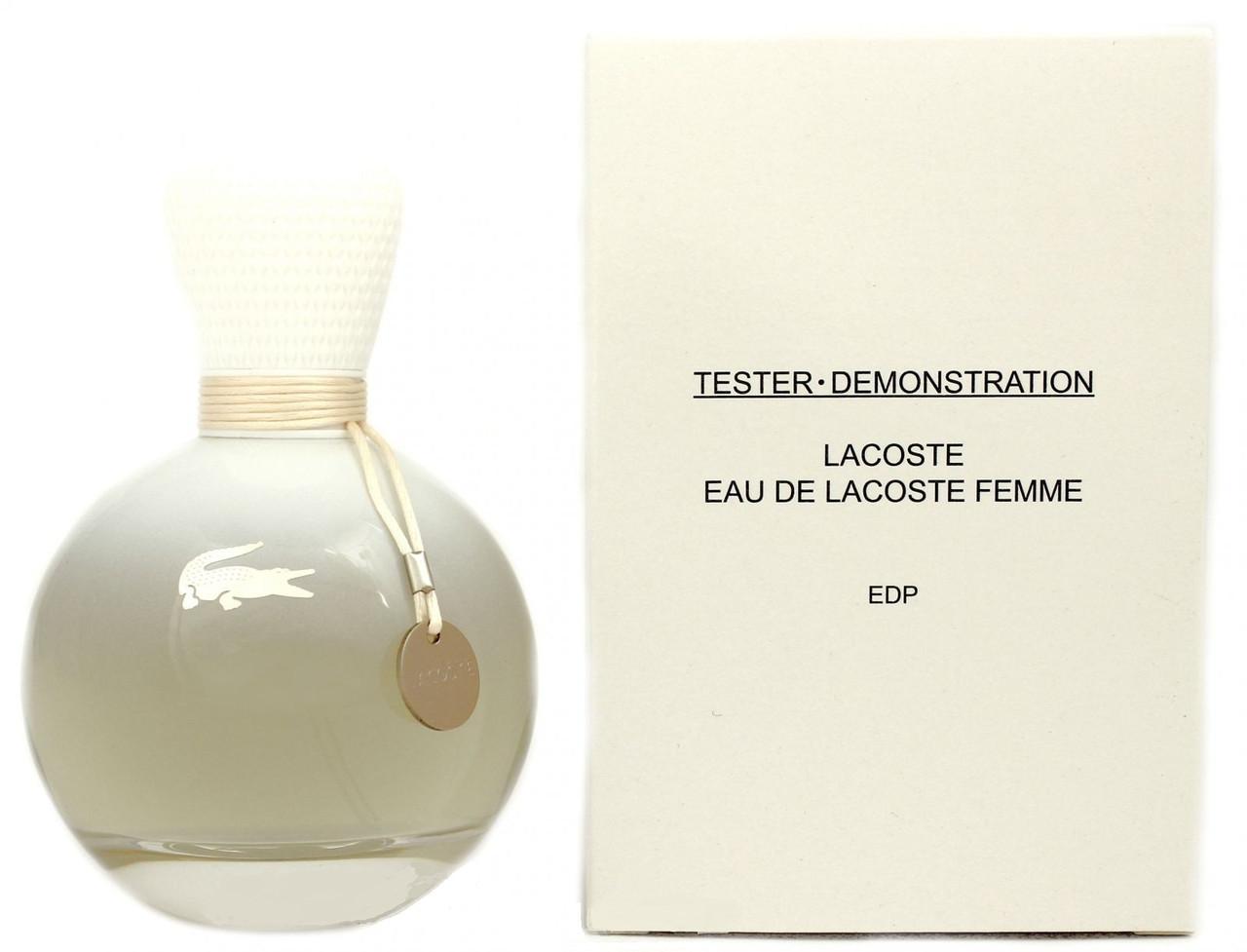 Lacoste Eau De Lacoste Pour Femme парфюмированная вода 90 ml. (Тестер  Лакост Еау Де 99e42032ac3df