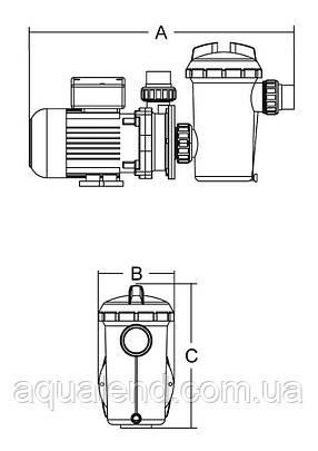 Насос SD075 Emaux циркуляційний 0,8 кВт 10.5м3/год, фото 2