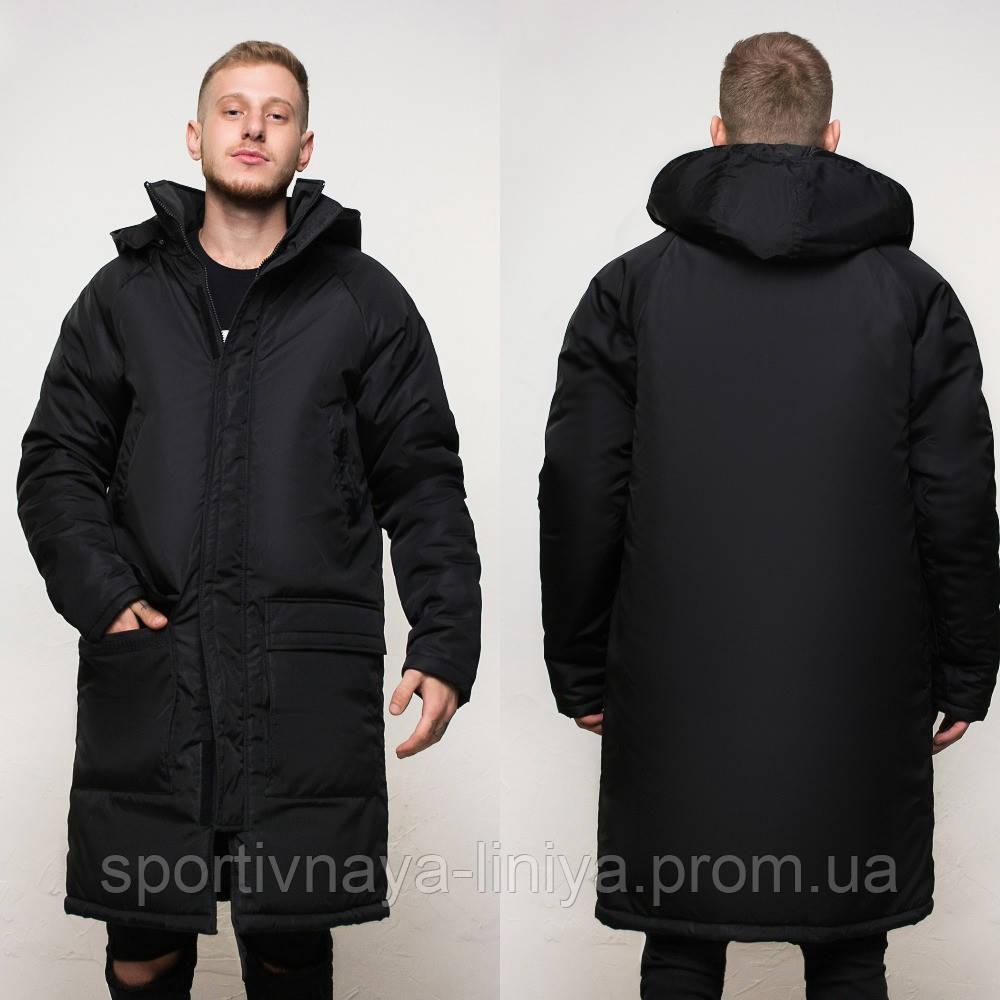 Куртка удлиненная зимняя мужская