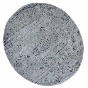 Килимок у ванну круглий 120 см Eskitme Сірий Arya AR-TR1004842-grey