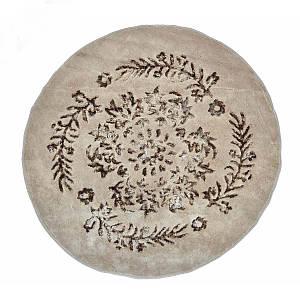 Килимок у ванну круглий 120 см Luxor Коричневий Arya AR-1380062-brown