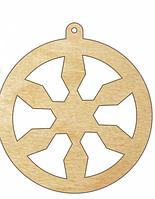 НР Дерев'яна іграшка на ялинку: Сніжинка (у)
