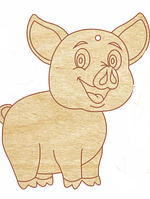 НР Дерев'яна іграшка на ялинку: Свинка 3  (стоїть на чотирьох лапах)