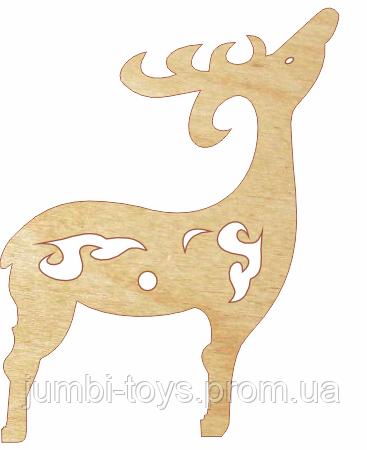 НР Дерев'яна іграшка на ялинку: Олень (у)
