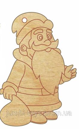 НР Дерев'яна іграшка на ялинку: Дід Мороз (у)