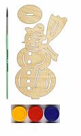 НР Дерев'яна розмальовка Новорічний Сюрпризик: Сніговик