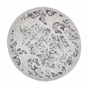 Килимок у ванну круглий 120 см Osmanli Бежевий Arya AR-TR1004843-bej