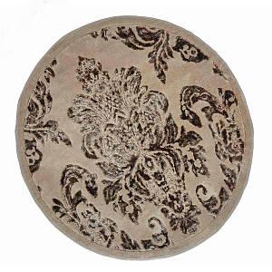 Килимок у ванну круглий 120 см Osmanli Коричневий Arya AR-TR1004843-brown