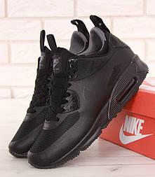Зимние кроссовки Nike Air Max 90 Mid Winter Black. Фото в живую. Топ реплика