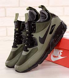 Зимние кроссовки Nike Air Max 90 Mid Winter Green. Фото в живую. Топ реплика