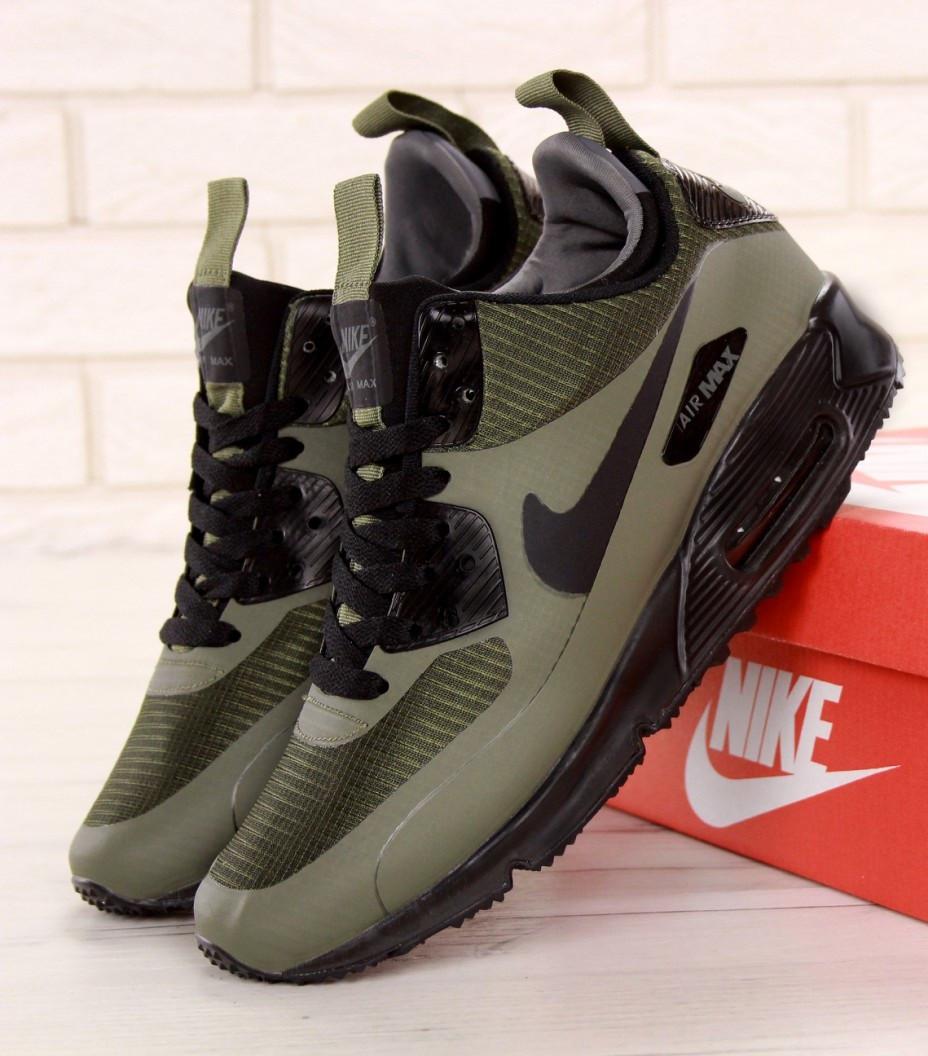 630e3e96 Зимние кроссовки Nike Air Max 90 Mid Winter Green. Фото в живую. Топ реплика