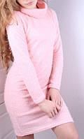 Платьеподростковоесо съемным хомутом, для девочки 9-14лет, розовое