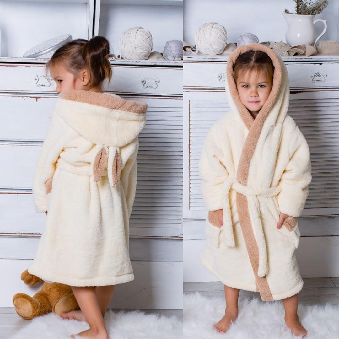 Детский махровый халат Зайчик с ушками
