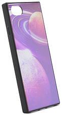 """Чехол накладка YCT для iPhone 7/8 Plus (5.5 """") TPU + Glass прямоугольный Космос Синий, фото 3"""