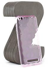 Чехол накладка SMX для Xiaomi Redmi 4a Diamond ser. TPU Прозрачный / Розовый, фото 2