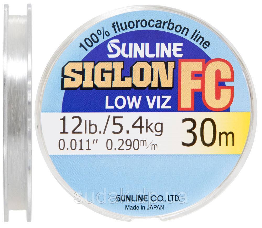 Флюорокарбон Sunline SIG-FC 30м 0.290 мм 5.4 кг поводковый