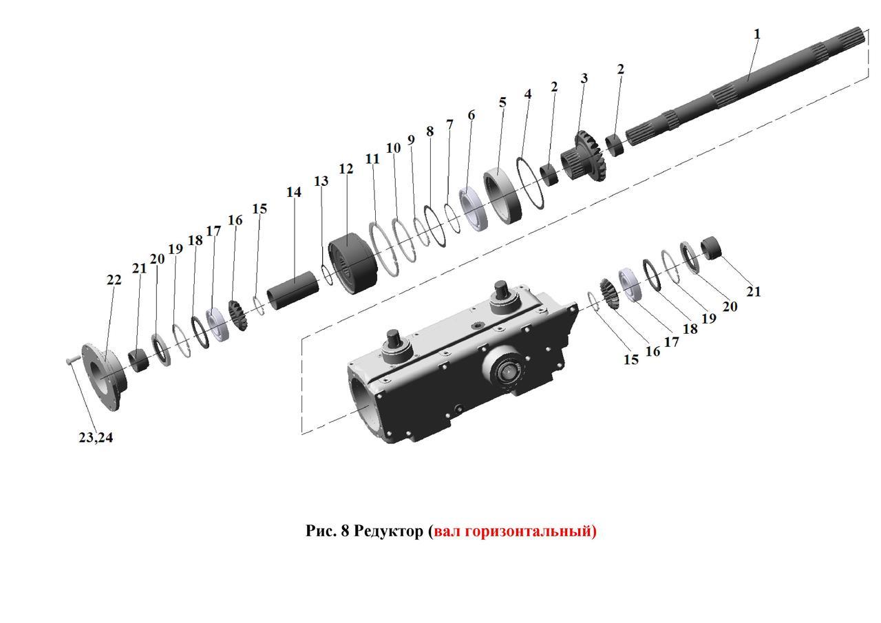 Редуктор (вал горизонтальный) ЖК-80 и ЖК-60