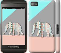 "Чехол на Blackberry Z10 Узорчатый слон ""2833c-392-328"""