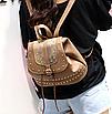 Рюкзак женский кожзам с заклепками Daren Коричневый, фото 2