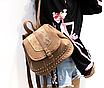 Рюкзак женский кожзам с заклепками Daren Коричневый, фото 3