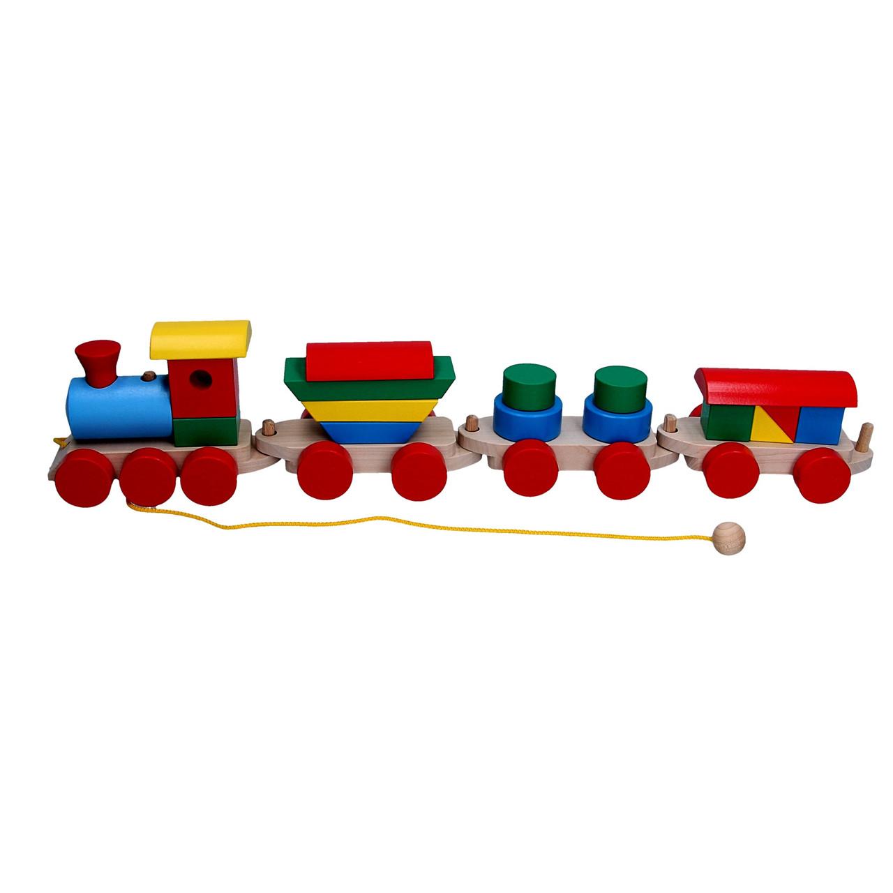 Паровоз 3 вагони