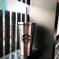 Podarki Стакан с крышкой и трубочкой Starbucks Reserve (Серебро)