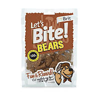 Тренировочные лакомства Brit Let's Bite Bears Мишки с диким кабаном 150 гр