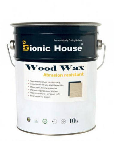 Восковая краска для дерева устойчивая к истиранию WOOD WAX PRO / Вуд Вакс Про цв.белый (уп. 0,8 л), фото 2