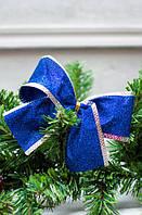 Бантик на елку Bonita Металлик синий 11х10 см