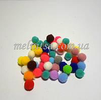 """Помпончики """"велюр"""", 1 см , 50 шт., цвет микс, люкс"""
