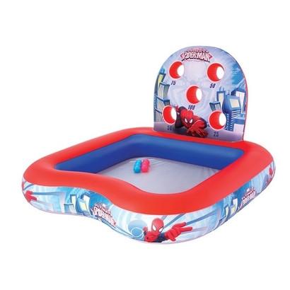 """Детский игровой надувной центр Bestway  Тир """" Человек - паук """" с шариками."""