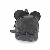 Уценка!Маленький рюкзак с ушками черный