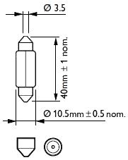 Светодиодная лампа SLS LED  со встроенной обманкой бортового комп-ра SV8,5(C5W) 39mm COB 7.5W Белый, фото 2