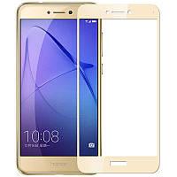 Защитное цветное стекло Mocolo (CP+) на весь экран для Huawei P8 Lite (2017) Золотой