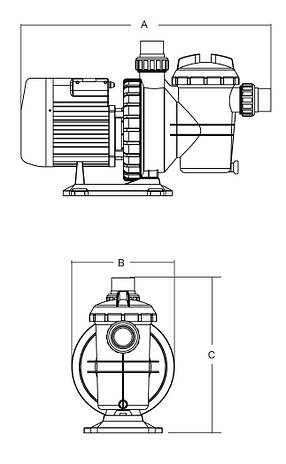 Насос SC075 Emaux циркуляційний 0,75 кВт 13м3/год, фото 2