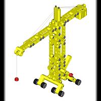 Детский конструктор Kiditec 1217 L-set Showcrane big Yellow 460 деталей (3893)