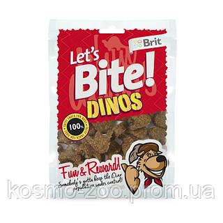 Тренировочные лакомства Brit Let's Bite Dinos динозаврики с ягненком 150 гр