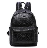 Рюкзак женский кожзам Snake print Черный, фото 1