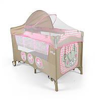 Кроватка-манеж Milly Mally Mirage Delux Розовые игрушки (0282)