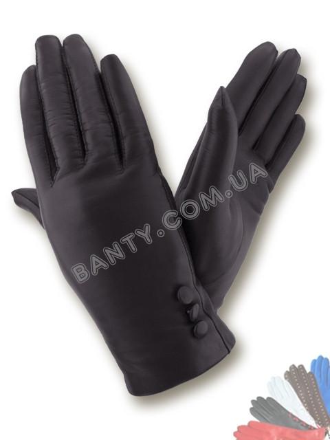 Женские перчатки на шерстяной подкладке, модель 037