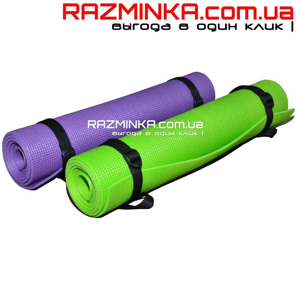 Коврик каремат для йоги 180х60см, толщина 5мм