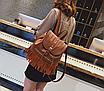 Рюкзак женский кожзам с бахромой Cowboys Backpacks Светло коричневый, фото 3
