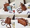 Рюкзак женский кожзам с бахромой Cowboys Backpacks Светло коричневый, фото 5