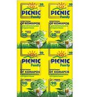 """Пластины """"Picnic Family"""" защита от комаров 10 шт. код 428"""