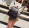 Рюкзак женский кожзам с бахромой Cowboys Backpacks Черный, фото 3