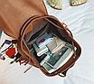 Рюкзак женский кожзам с бахромой Cowboys Backpacks Черный, фото 8