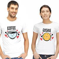 """Парные футболки """"Кофе и печенька"""""""