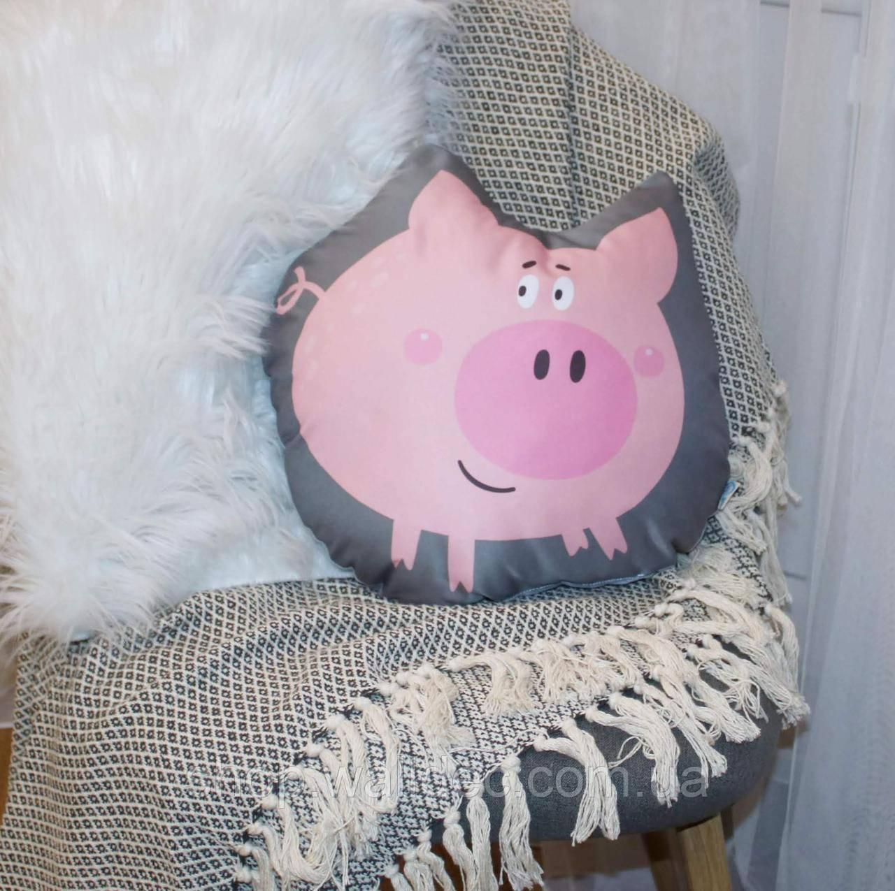 Подушка Свин розовый 40*40см