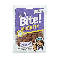 Функциональные лакомства Brit Let's Bite Mobility с курицей для поддержки мобильности 150 гр.