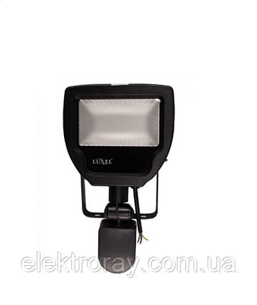 Прожектор светодиодный 20W 1280lm с датчиком движения Luxel холодный белый, фото 2